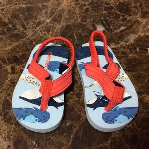 Carter's Baby Boy Sandals Blue W/Whale